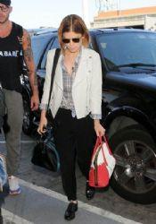Kate Mara Departs LAX