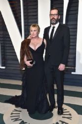 Patricia Arquette and Eric White: 2017 Vanity Fair Oscar Party Hosted By Graydon Carter - Arrivals