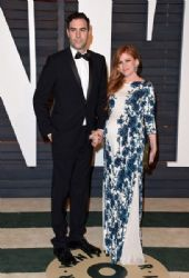 Isla Fisher and Sacha Baron Cohen: 2015 Vanity Fair Oscar Party