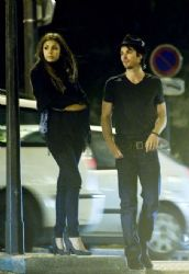 Ian Somerhalder and Nina Dobrev: in Paris