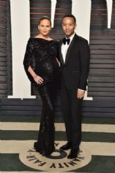 Chrissy Teigen and John Legend: 2016 Vanity Fair Oscar Party Hosted By Graydon Carter - Arrivals