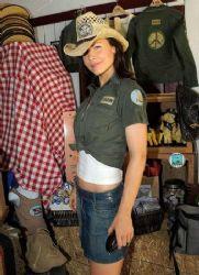 Josie Davis at the Dr. Frank Ryan Bony Pony Ranch Foundation Fundraiser in Malibu, California.