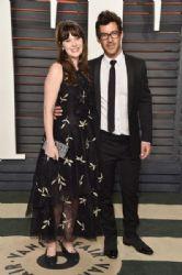 Zooey Deschanel and Jacob Pechenik: 2016 Vanity Fair Oscar Party Hosted By Graydon Carter - Arrivals