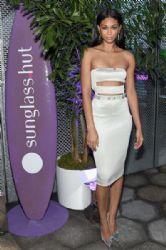 Chanel Iman attends the Sunglass Hut celebration