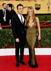Justin Theroux and Jennifer Aniston: 21st Annual Screen Actors Guild Awards - Arrivals