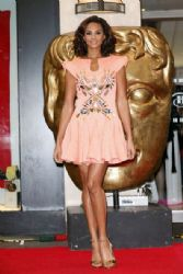 Alesha Dixon: at the red carpet arrivals at the Children's BAFTA Awards at the Hilton Hotel on Park Lane in London