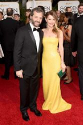Judd Apatow and Leslie Mann: 72nd Annual Golden Globe Awards 2015- Arrivals