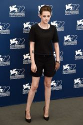 Kristen Stewart attends a photocall for 'Equals' during the 72nd Venice Film Festival