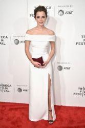 Emma Watson in Burberry  Dress : 'The Circle' Premiere - 2017 Tribeca Film Festival
