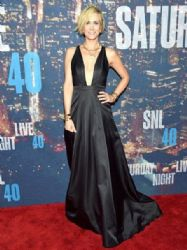 Kristen Wiig wears Max Azria - Saturday Night Live 40th Anniversary Celebration