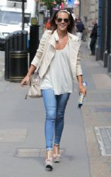 Danielle Lloyd: arrives at Inanch Hairdressers in London