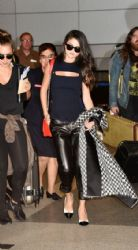 Selena Gomez Arrives At Los Angeles Int'l Airport (LAX) Tuesday, September 29,2015