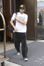 Brody Jenner is seen leaving the Trump SoHo