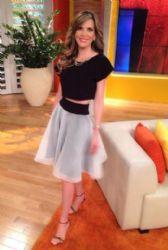Maritza Rodríguez: on set