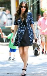 LIv Tyler wears Proenza Schouler - out & about in New York