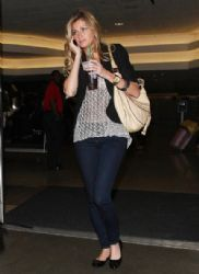 Erin Andrews: at the LAX Airport in Los Angeles