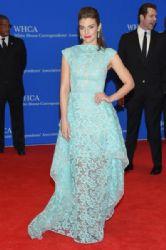 Lauren Cohan wears Christa Siriano - 2015 White House Correspondents' Association Dinner