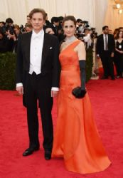 Colin Firth and Livia Giuggioli: Red Carpet Arrivals at the Met Gala 2014