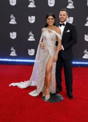 Francisca Lachapel and Francesco Zampogna: 20th Annual Latin GRAMMY Awards - Arrivals