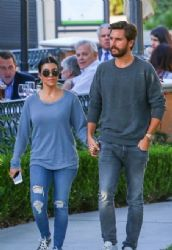 Kourtney Kardashian and Scott Disick: stepping out for a sushi dinner at Sugarfish in Calabasas
