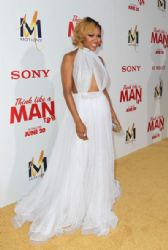 Meagan Good wears Michael Costello - 'Think Like A Man Too' LA premiere
