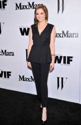 Zoey Deutch wears Sportmax - Max Mara & W magazine cocktail party