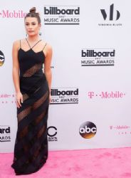 Lea Michele in David Koma Dress :  2017 Billboard Music Awards - Magenta Carpet