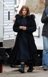 "Vanessa Paradis: on the set of her new movie ""Fadingi Gigolo"""