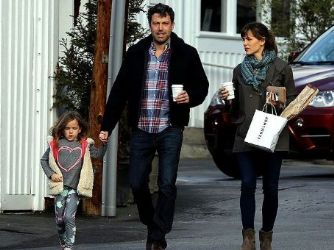 Jennifer Garner and Ben Affleck: baby walk