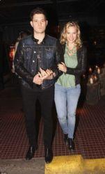 Luisana Lopilato and Michael Bublé: restaurant party
