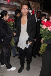 Evan Ross Gets Ready for Holloween