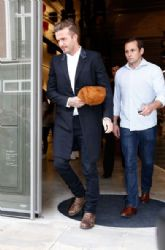 David Beckham wears Saint Laurent - Victoria Beckham London Store Opening