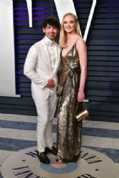 Joe Jonas and Sophie Turner: 2019 Vanity Fair Oscar Party Hosted By Radhika Jones - Arrivals