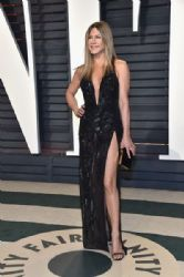 Jennifer Aniston in  Versace Dress : 2017 Vanity Fair Oscar Party