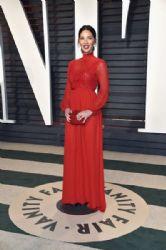 Olivia Munn in Giambattista Valli dress: 2017 Vanity Fair Oscar Party