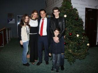 Evgenia Manolidou, Adonis Georgiades and kids: