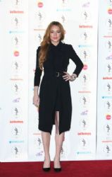 Lindsay Lohan attends the Women Of The Year lunch at InterContinental Park Lane Hotel