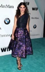 Sandra Bullock wears Monique L'Huillier - Women In Film 2015 Crystal & Lucy Awards