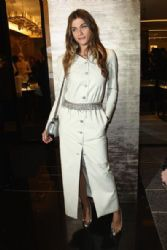 Elisa Sednaoui Attends a Chanel Boutique Inauguration in Paris