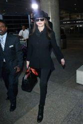 Catherine Zeta Jones spotted arriving  at LAX