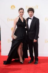 Simon Helberg and Jocelyn Towne: Arrivals at the 66th Annual Primetime Emmy Awards