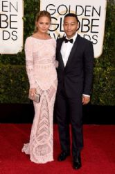 Chrissy Teigen and John Legend: 72nd Annual Golden Globe Awards 2015- Arrivals
