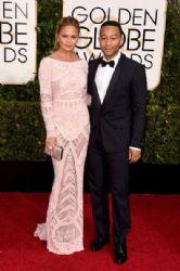 Chrissy Teigen and John Legend: 72nd Annual Golden Globe Awards 2015- Arrivals