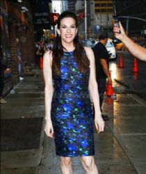 Liv Tyler wears Proenza Schouler - 'Late Night with David Letterman'