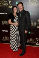 Sean Kanan and Michele Vega: The 41st Annual Daytime Emmy Awards - Arrivals