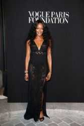 Naomi Campbell wears Burberry - Vogue Paris Foundation Gala