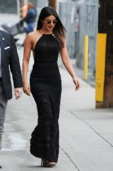 Priyanka Chopra   in Ralph Lauren Dress : Jimmy Kimmel Live! in LA