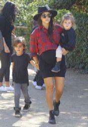 Kourtney Kardashian: have a family day at Underwood Family Farms in Moorpark
