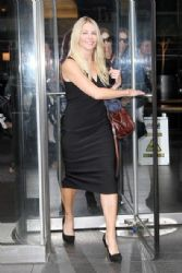Chelsea Handler: steps out of an office building in New York City
