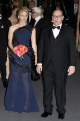 Princess Charlene Of Manacco wears Akris - Rose Ball 2014